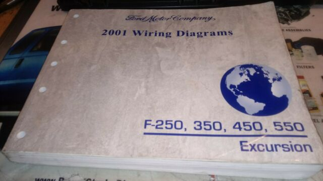 2001 Ford F250 350 450 550 Trucks Factory Wiring Diagrams