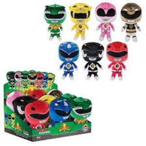 Funko Power Rangers Peluche set di 7 Verde Rosso Nero Blu Rosa Bianco Giallo Toys