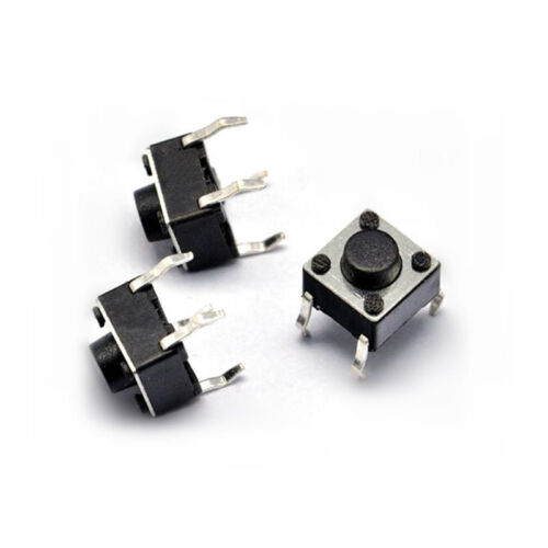 100x 0.24/'/'x0.24/'/'x0.2/'/' 4P Tact Push Button Switch Momentary DIP Through-Hole