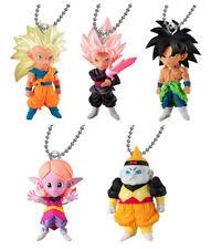 set 5 pcs Dragon Ball DBZ Super UDM Burst 30 Bandai Keychain Figure Arale Goku