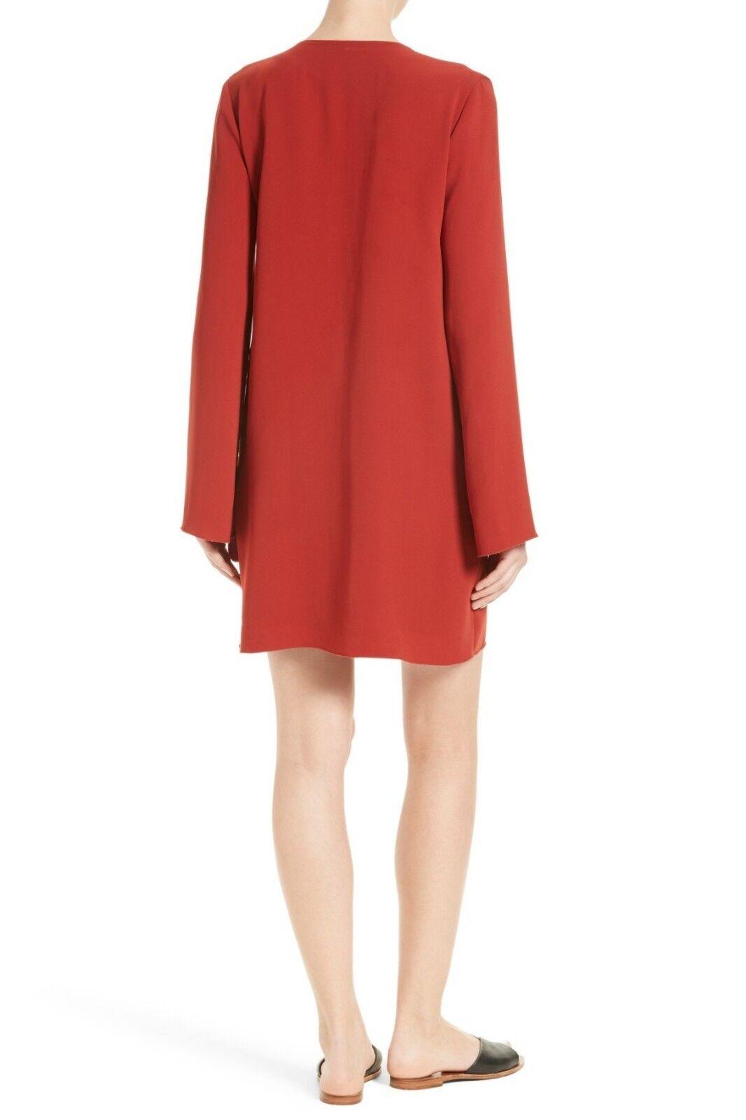 Theory Women's Size Large Red Oak Ulyssa Ulyssa Ulyssa Admiral Crepe Shift Dress 785705
