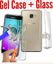 BEST chiaro TPU Gel Custodia Cover per Samsung Galaxy a3 (7) 2017 + Vetro Protecter