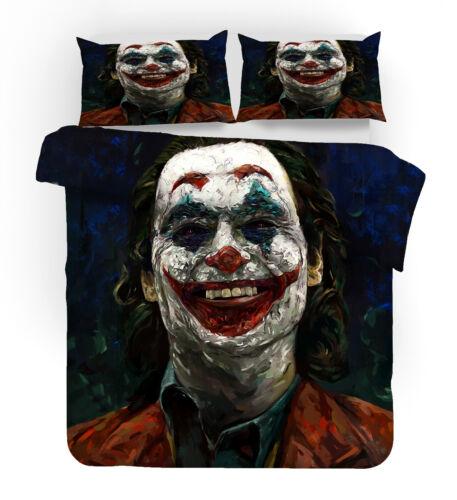 New#Joker 3D Design Bedding Set 3PC Of Duvet Cover Pillowcase Single Double King