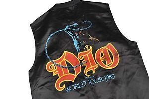 1984 World Rock Vest Tour Metal Snap Details 80s Satin Jacket Dio Vtg Concert S About Mens oeBCdx