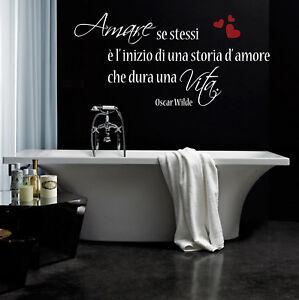 Détails Sur Wall Stickers Frase Frasi Adesivi Murali Arredo Bagno Oscar Wilde Vita Amore