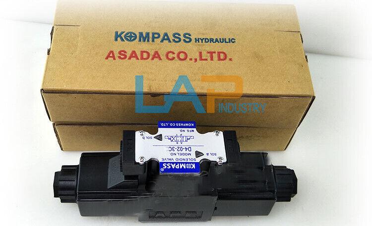 1PCS nuevo para Kompass Solenoide Válvula D4-02-3C3 AC110V 220V 24V