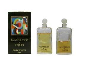 NOCTURNES-2-x-2-5-ml-Eau-de-Toilette-Miniature-for-Women-Filled-AS-IS-By-Caron