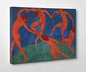 Quadro-Matisse-La-Danza-Stampa-Fine-Art-su-Tela-Canvas-Vernice-Pennellate
