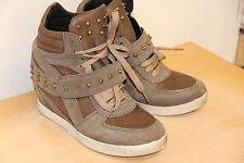 6bb5c5e2b51 item 1 NIB Modern Vice Siena Taupe Fashion Wedge Sneakers Leather sz 7  225  -NIB Modern Vice Siena Taupe Fashion Wedge Sneakers Leather sz 7  225