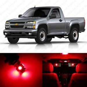 10 X Brilliant Red Led Interior Light Package For 2004 2012 Chevy Colorado Ebay
