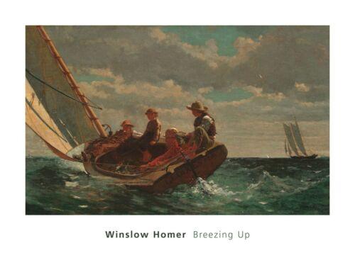 SAILBOAT ART PRINT Breezing Up A Fair Wind 1873-1876 Winslow Homer Poster 20x28