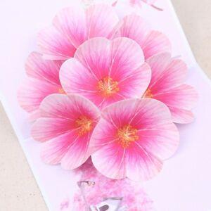 Handmade-Peach-Blossom-Greeting-Cards-Birthday-Wedding-Invitation-3D-Pop-Up-Card
