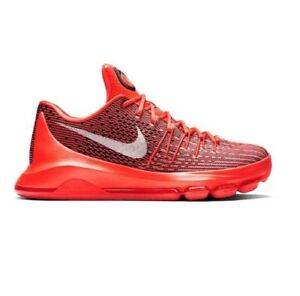 release date cc9a1 aeee3 Image is loading Nike-KD-8-Bright-Crimson-White-Black-749375-