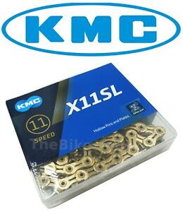 KMC-X11SL-GOLD-Ti-11-Speed-Road-Bike-Chain-fit-SRAM-Shimano-Campagnolo-UNCUT-NIB