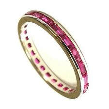 1.50Ct AAA Ruby Baguette Full Eternity Ring ,White Gold.