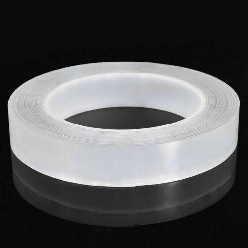2 Stk 5m Nano Tape Doppelseitiges Klebeband Abnehmbares Gel Spurloses Klebeband