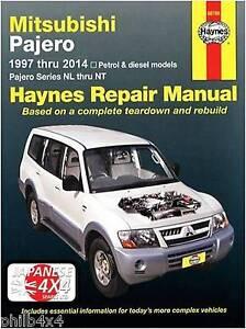 mitsubishi pajero shogun haynes manual 1997 2014 3 0 3 5 3 8 rh ebay com 2001 Mitsubishi Montero Mitsubishi Montero Sport