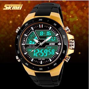 2016 SKMEI Men Sports Watch Fashion Casual Men's Digital Analog Alarm wristwatch
