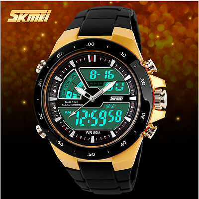 2016 SKMEI Men Sports Watch Fashion Casual Men's Digital Analog Alarm wristwatch