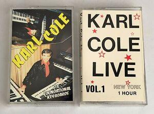 Lot of 2 KARL COLE Cassette Tapes ~ Six Soundsational Keyboards, Love Vol. 1
