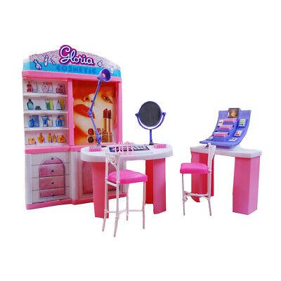 1//6 Doll Mini Fairy Garden Park Beach Chair for Kids Playset Props Rosy
