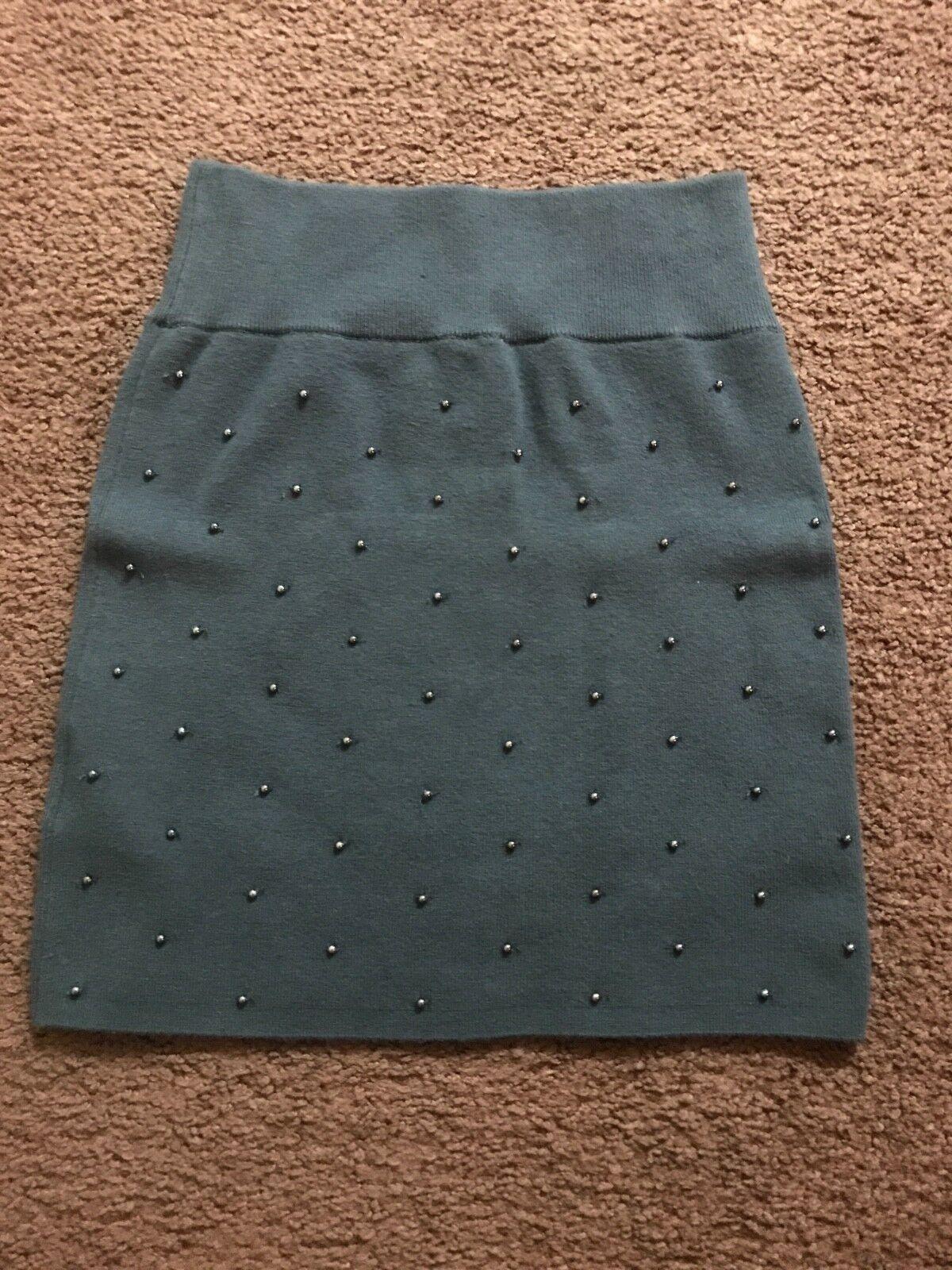 Marciano grey skirt with metallic beads Size S