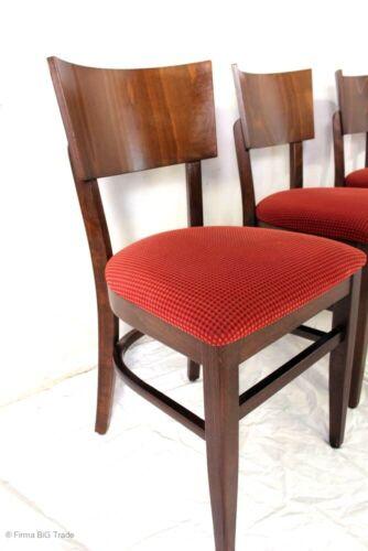 4 schöne Bistrostühle Polsterstühle Holzstühle Küchenstühle Palisander Farbton