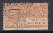 ITALIA: posta AEREA 1926 1l50 ARANCIONE SG 202 OTTIMO USATO