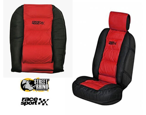 Smart Roadster Universal Race Sport Red /& Black Cushioned Front Seat Cover