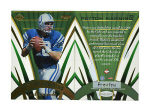 10 Card Lot 1999 Collectors Edge Peyton Manning Masters Sentinel Prevew S6