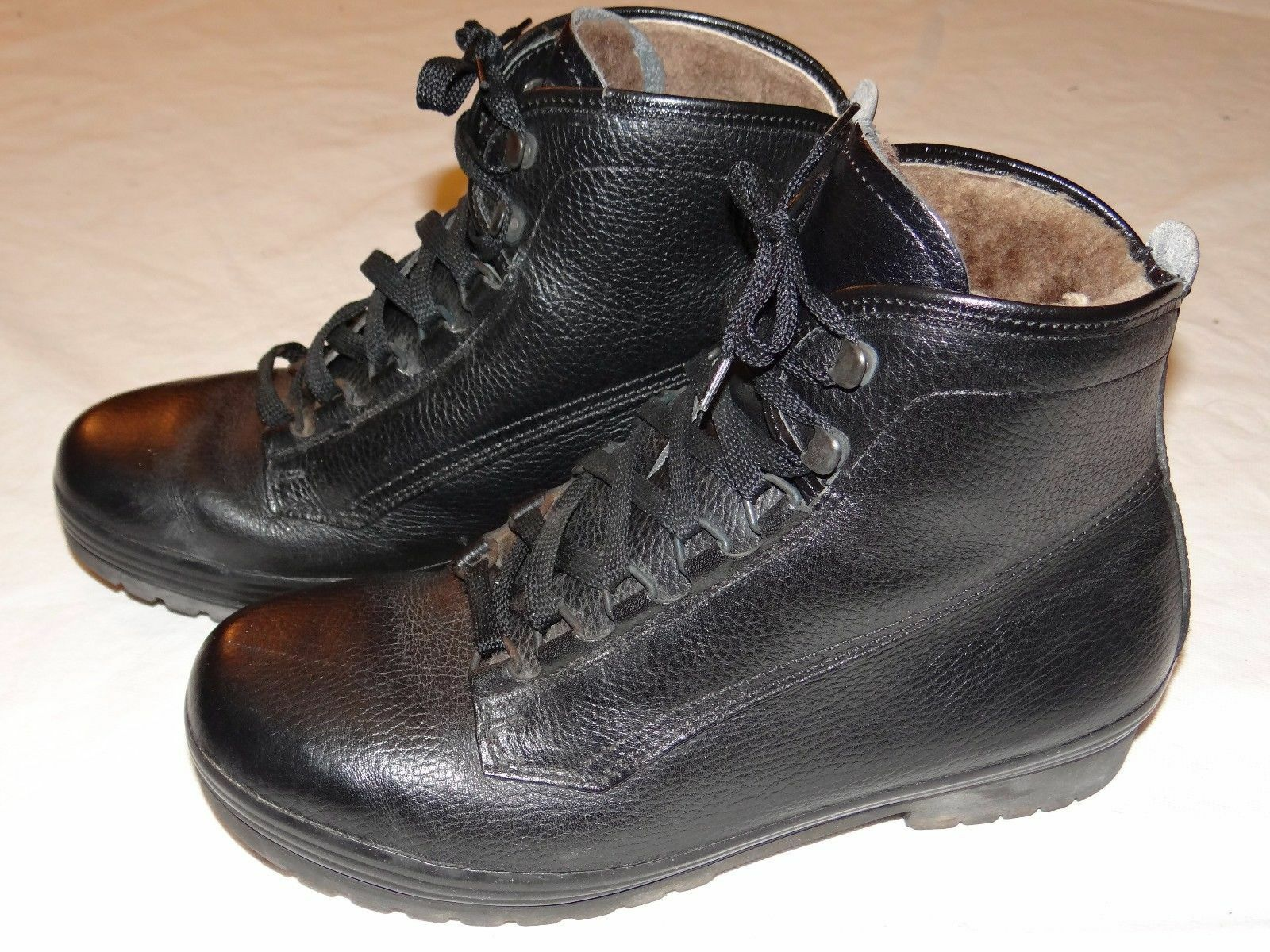 Lowa Wanderschuhe Gr Stiefel Leder Schuhe Boots Gr Wanderschuhe 8,5 gefüttert schwarz 816bfd