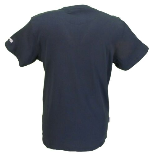 Lambretta Mens Navy Union Jack Scooter 100/% Cotton Retro T Shirt