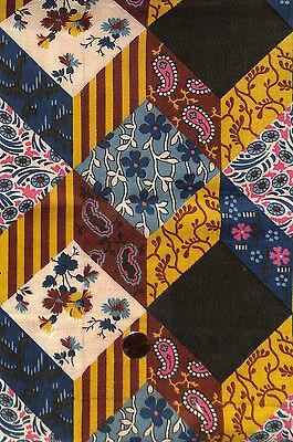 Antique 1880 Patchwork Pattern Fabric
