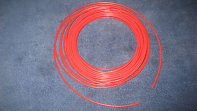 """1//4/"""" Pneumatic Polyethylene Tubing for Push to Connect Fittings BLACK//RED 100ft"""
