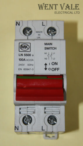 100 a double pôle commutateur disconnector utilisé Mk Sentry ln5500s