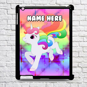 wholesale dealer b3185 9f1c0 Details about PERSONALISED UNICORN Hard Case for iPad - All Models Kids  Gift CUSTOM Add Name 5
