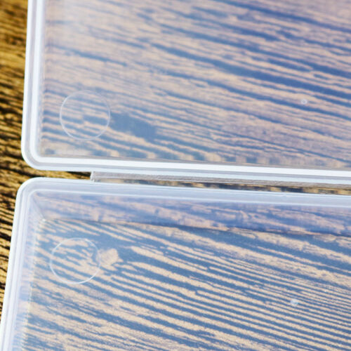 ^Clear Plastic Transparent With Lid Storage Box Collection Container Case useful