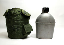 US Military 3 Piece 1 Qt Canteen Kit w// USGI OD Cover /& Army Type Aluminum Cup