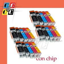 20 CARTUCCE Canon Pixma IP7250 MG5450 MG5550 PGI-550 CLI-551 + CHIP