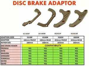 AVID HAYES 203mm Disc Brake Adaptor MTB BIKE 180mm SHIMANO PROMAX FORMULA