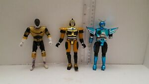 Gold-Beetleborg-Bandai-1997-Beetleborgs-Used-Incomplete-Lot-of-3-Fast-Shipping