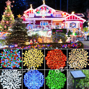 200-300-400LED-Solar-Power-String-Fairy-Light-Outdoor-XMAS-Party-Lamp-Waterproof