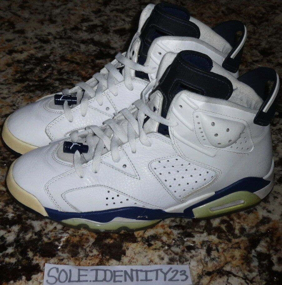 2000 OG AIR JORDAN RETRO 6 MIDNIGHT NAVY SZ 9 OLYMPIC BLACK INFRARED PINNACLE