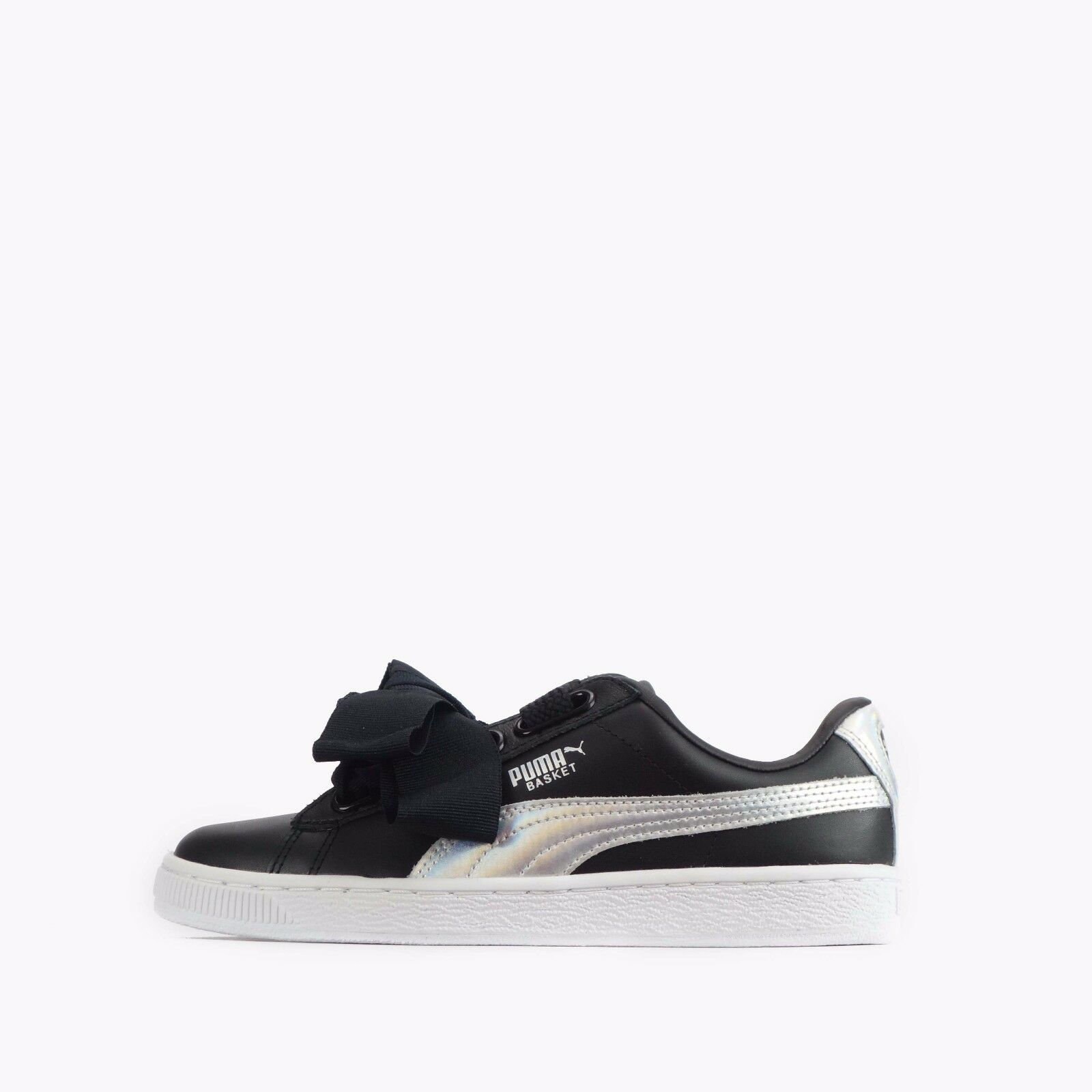Puma Puma Puma Basket Heart Explosive Women's shoes Black Silver acff4c