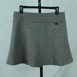 92b674c179 Gap Tweed Skirt 4 Small Wool Blend Flared A Line Mini Black White ...