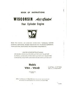 WISCONSIN ENGINE VH4 - VH4D INSTRUCTION, REPAIR & PARTS MANUAL BRAND NEW |  eBay | Wisconsin Engine Parts Diagram |  | eBay