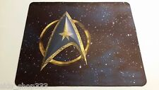 STAR TREK LOGO ! Blue Gold Anti slip optical COMPUTER MOUSE PAD 9 X 7 inch