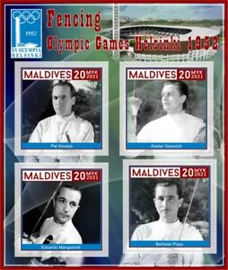Stamps Olympic Games  Helsinki 1952 Fencing