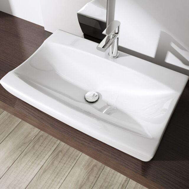 Sogood Keramik Waschschale mit Nano Aufsatzwaschbecken oder Hänge-Waschtisch