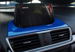 For Mazda 3 Axela 2017 Blue ABS Carbon Fiber Interior GPS Navigation Trim Frame